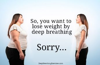 Deep breathing and weight loss illustration