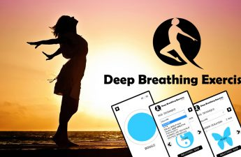 Deep Breathing Exercises - Woman and Sunset